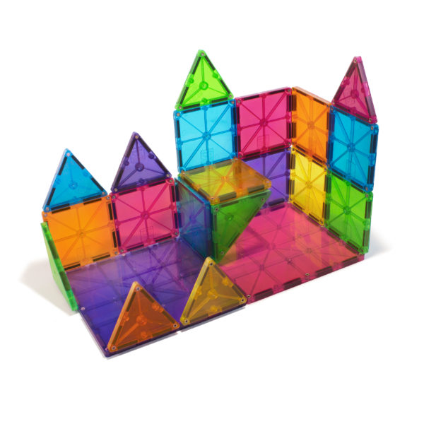 Castle Built With Magna-Tiles® Clear Colors