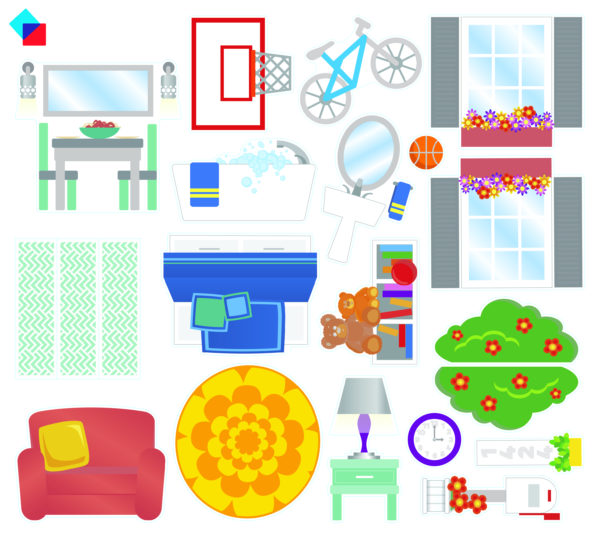 Stickers Included In Magna-Tiles® House 28-Piece Set