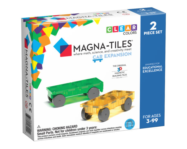 Front Of Box For Magna-Tiles® Cars 2-Piece Expansion Set
