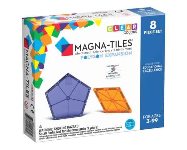 Front Of Magna-Tiles® Polygons 8-Piece Expansion Set Box