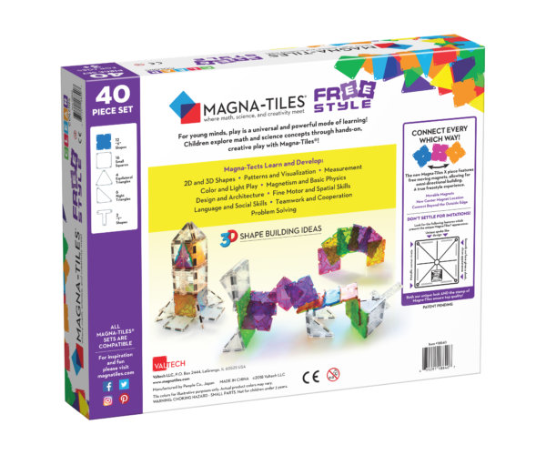 Back Of Magna-Tiles® Freestyle 40-Piece Set Box