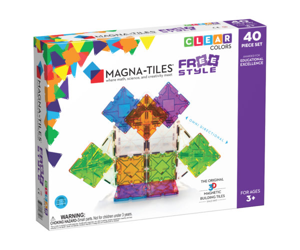 Front Of Magna-Tiles® Freestyle 40-Piece Set Box